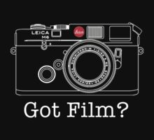 Leica Got Film T Shirt by David Jenkins