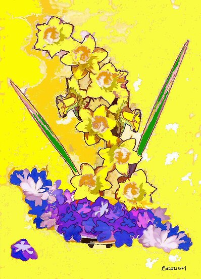 Daffodils and Crocuses by MURRAY BROUGH