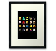 Pac People Framed Print