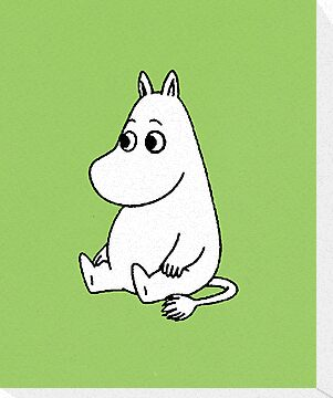 Sitting Moomin by Earth-Gnome