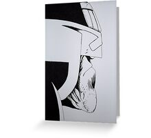 Judge Dredd Greeting Card