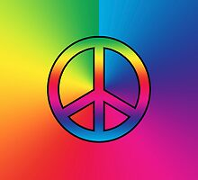 Iphone Case - Peace Sign - Spectrum by Mark Podger