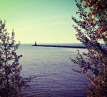 Lake Superior Break Wall  by perkinsdesigns