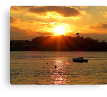 The Lone Fishing Boat Canvas Print