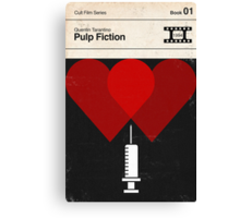 Pulp Fiction Modernist Book Cover Series  Canvas Print