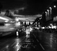 Princes Street. Edinburgh. B&W by LBMcNicoll