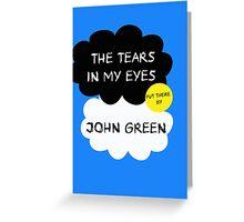 Tfios John Green Cover parody shirt. Greeting Card