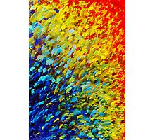 MAKING WAVES - Bold Rainbow Splash Ocean Waves Beach Nature Acrylic Painting Photographic Print