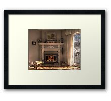 Home is where the hearth is... Framed Print