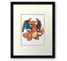 Pixel Charizard Framed Print