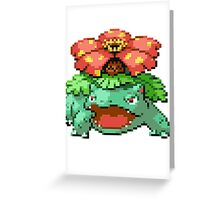 Pixel Venusaur Greeting Card