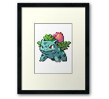 Pixel Ivysaur Framed Print