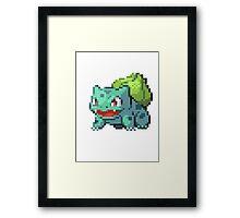 Pixel Bulbasaur Framed Print