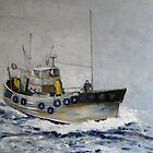 Trawler, North Sea by Sue Nichol