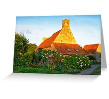 Flowered cottage in Brittany Greeting Card