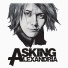 Ben Bruce Asking Alexandria Drawing Tee by zoeandsons