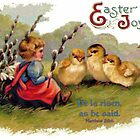 Happy Easter - Children's Greeting Card by aprilann