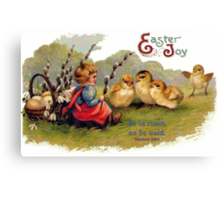 Happy Easter - Children's Greeting Card Canvas Print