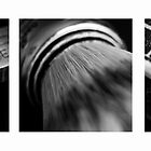Straight Razor Shaving Tryptych III by Ronan Hickey