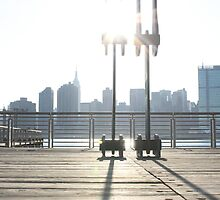 Dock and Manhattan Skyline by tomduggan