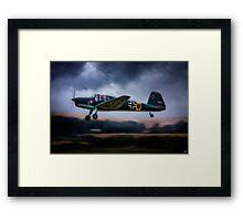 Messerschmitt BF108 Takeoff Under Dark Clouds Framed Print