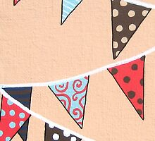 Cantaloupe Bunting by Natalie Seaton