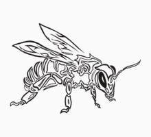 """Bee Spirit"" ver.1 - Surreal abstract tribal bee totem animal by Leah McNeir"