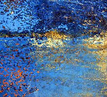 Blue Abstracts by Kathie Nichols