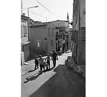 A Group of Children in Kadifekale District in Izmir, Turkey Photographic Print