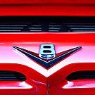 Red V8 emblem by htrdesigns