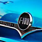 Blue F100 metal badge by htrdesigns