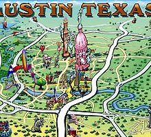 Austin Texas FUN Map by Kevin Middleton