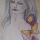 woman with butterflies by Ellen Keagy