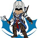Connor Kenway Chibi: Assassin's Creed 3 by SushiKitteh's Creations