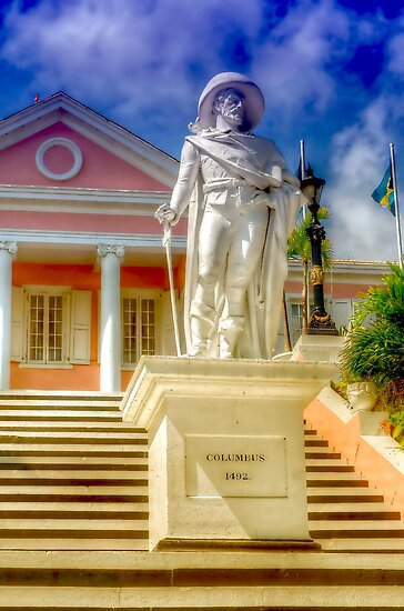 Christopher Columbus at Government House in Nassau, The Bahamas by 242Digital