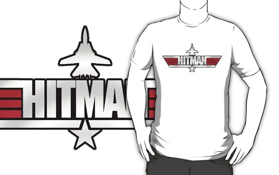 Custom Top Gun Style - Hitman by CallsignShirts