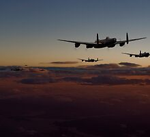 Lancaster - Sunset Sortie by Pat Speirs