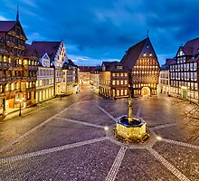 Historic old city of Hildesheim, Germany by Michael Abid