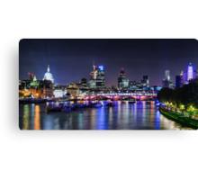 London Night Skyline Canvas Print