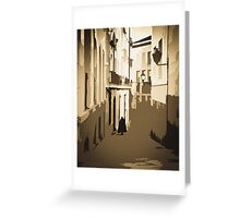 Man in Cape Greeting Card