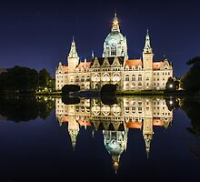 City Hall of Hannover by night by Michael Abid