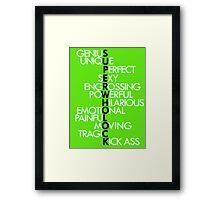 SuperWhoLock Framed Print