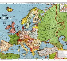 Old Map of Europe by TilenHrovatic