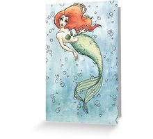 Nautical Redhead Greeting Card