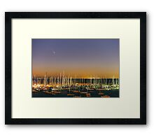 Comet PanSTARRS above Sandringham Yacht Club Framed Print