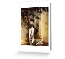 Pomona, Goddess of the Bountiful Harvest Greeting Card