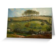 Pasture near Cherbourg (Normandy), 1871-2 Greeting Card