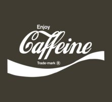 Enjoy Caffeine (army) - geek t-shirt by geekuniverse