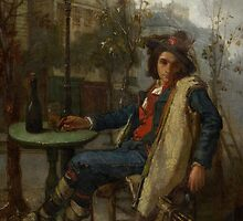 Young Italian Street Musician, c.1877  by Bridgeman Art Library