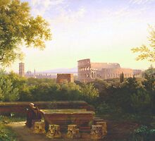 View of the Colosseum from the Orti Farnesiani, 1833 by Bridgeman Art Library